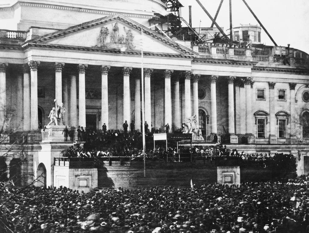 Inauguration of US President Abraham Lincoln, US Capitol Building, Washington DC, USA, March 4, 1861