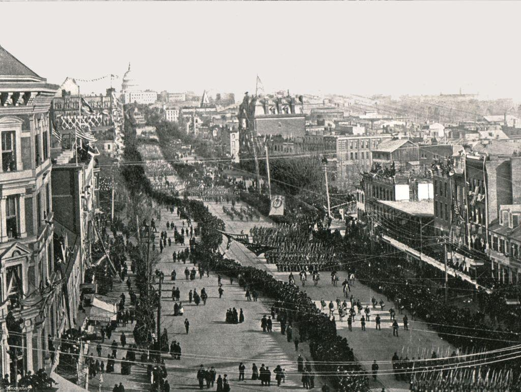 A fete day in the American capital, Washington DC, 1895.
