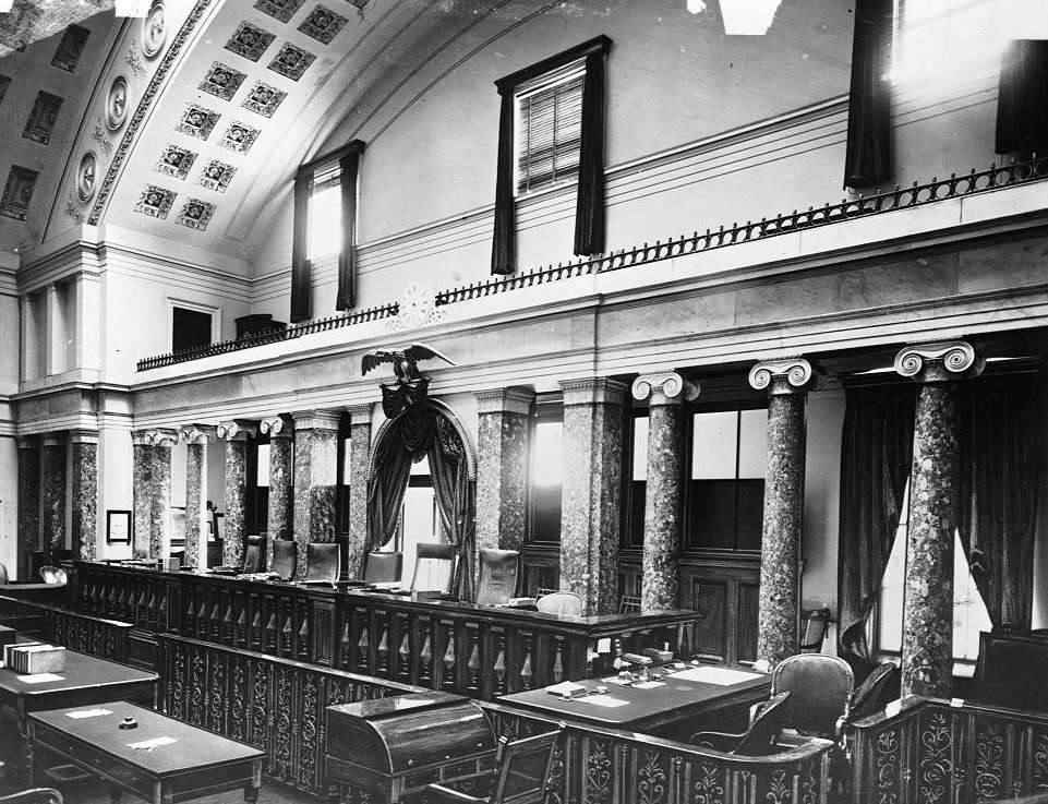 The old Supreme Court Room in the U. S. Capitol. Washington D. C., 1890